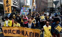 Manifestation à Hong Kong contre le placement de la gare de Kowloon sous contrôle chinois