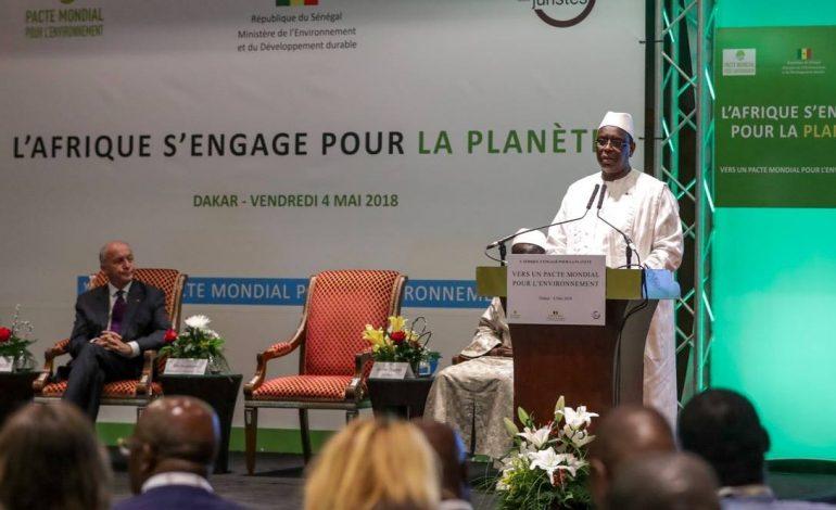 Macky Sall: «il faut que le principe du pollueur-payeur soit de rigueur»