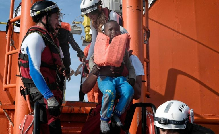 73 migrants secourus par l'Aquarius en Méditerranée