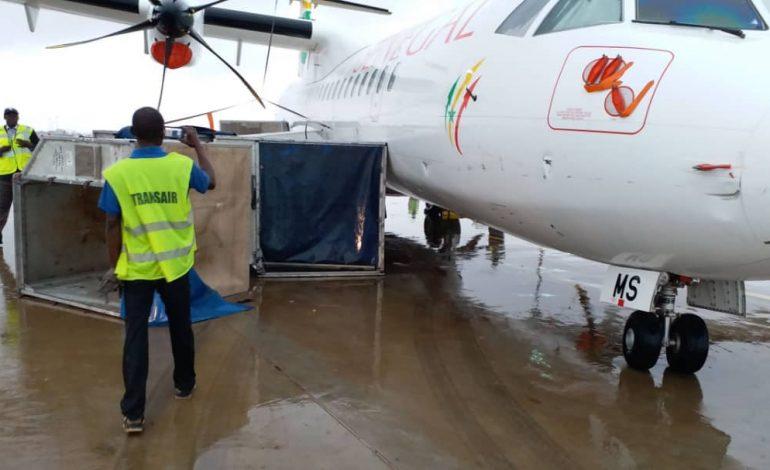 Un des ATR d'Air Sénégal indisponible après les dégâts de la tempête à l'aéroport de Diass