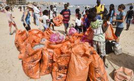 La plage de Ngor débarrassée de ses déchets