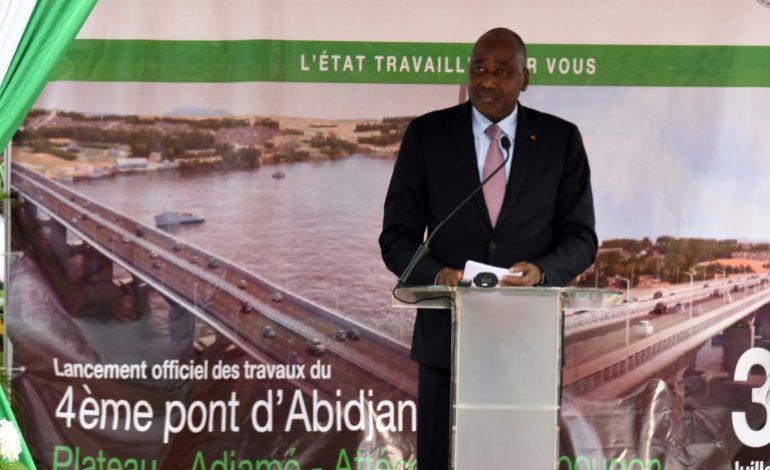 Lancement des travaux du pont reliant Yopougon au Plateau à Abidjan