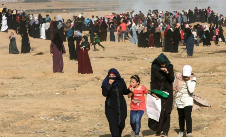 Des milliers de femmes manifestent à Gaza, près de la frontière israélienne