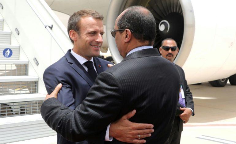 Emmanuel Macron en Mauritanie au sommet de l'Union Africaine