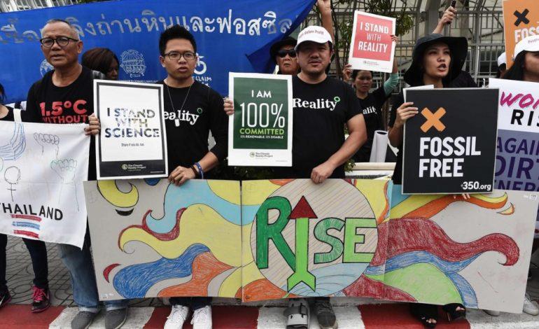 Manifestation planétaire face à l'urgence du dérèglement climatique