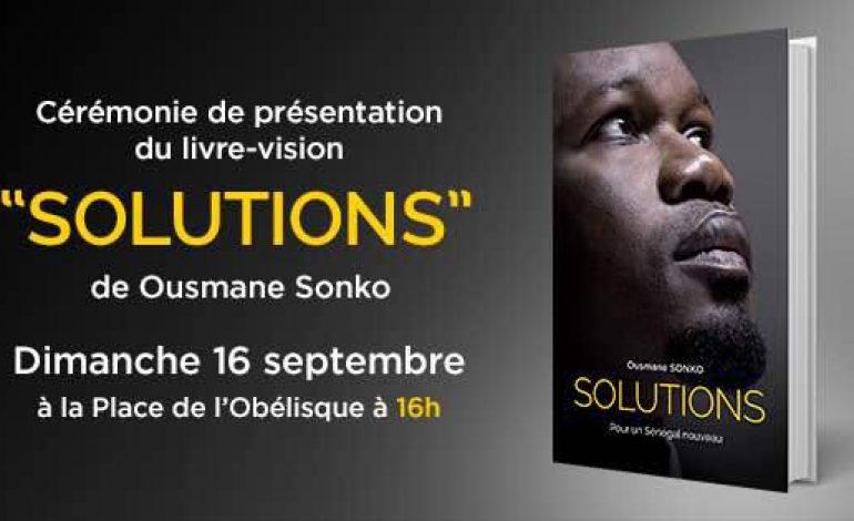 Ousmane Sonko présente son livre-programme le 16 septembre à la Place de l'Obélisque