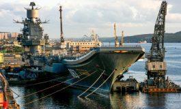L'unique porte-avions russe, l'Amiral Kouznetsov, endommagé lors de travaux de réparation