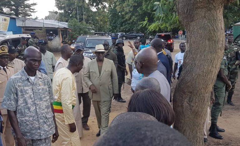 Début de la tournée économique du président Macky Sall dans le sud du Sénégal