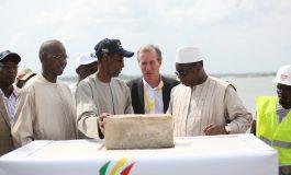 Lancement des travaux du pont de Marsassoum par Macky Sall