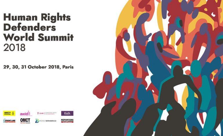 Plus de 150 défenseurs des droits humains du monde entier réunis à Paris