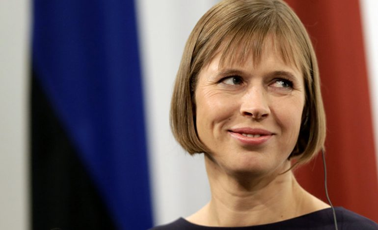 La présidente de la République d'Estonie, Kersti Kaljulaid en visite officielle au Sénégal