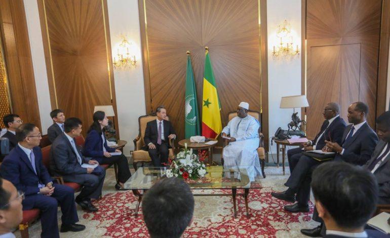 Macky Sall reçoit le ministre Chinois des Affaires Etrangères, Wang Yi
