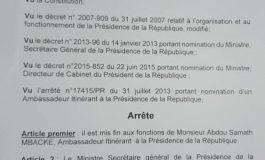 Serigne Samath Mbacké limogé comme ambassadeur itinérant pour avoir soutenu Idrissa Seck