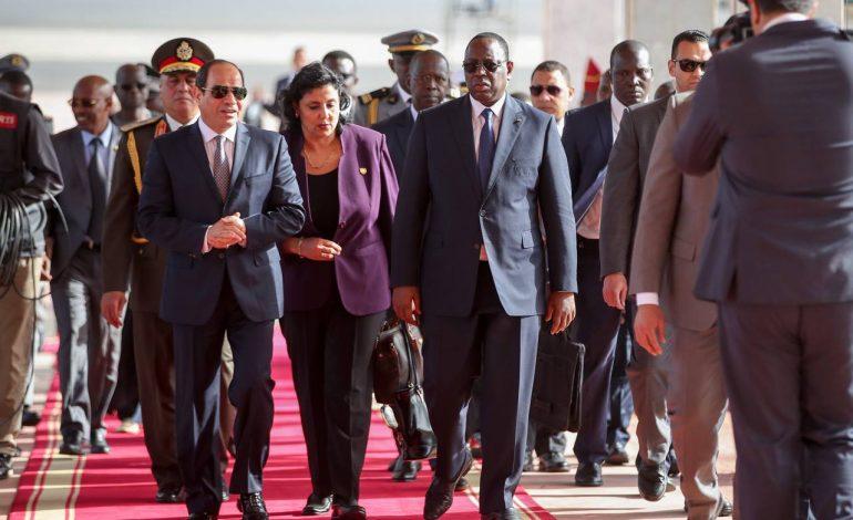 Arrivée du président égyptien Abdel Fattah Al Sissi à Dakar