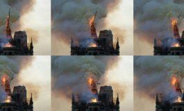 """""""Paris est défiguré!"""" le choc et les larmes devant Notre-Dame de Paris en flammes"""