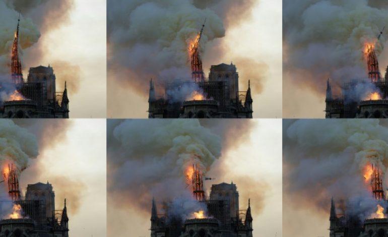 «Paris est défiguré!» le choc et les larmes devant Notre-Dame de Paris en flammes