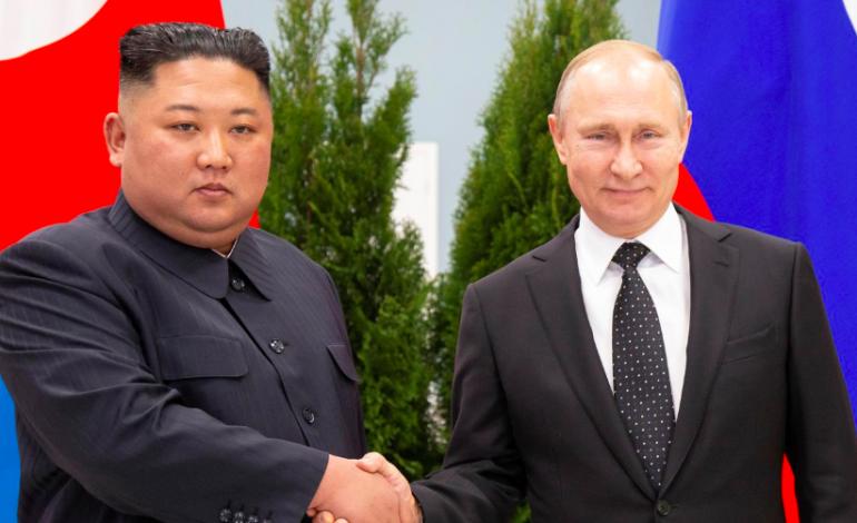 Vladimir Poutine et Kim Jong Un affichent leur bonne volonté au début d'un sommet inédit