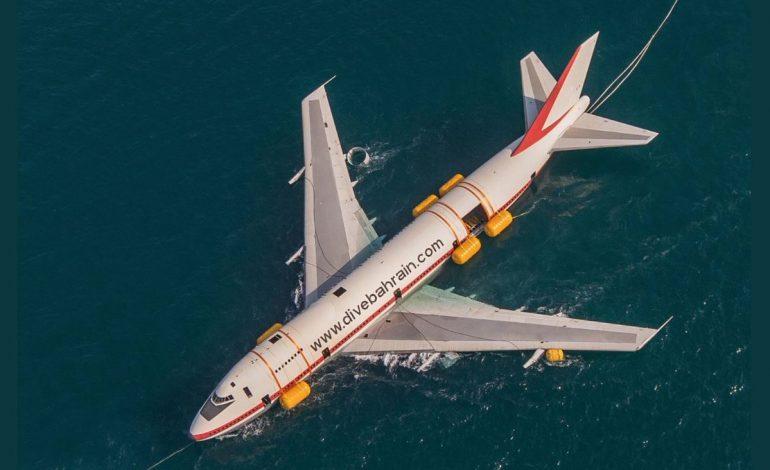 Un Boeing 747 coulé pour le plaisir des plongeurs au Bahreïn
