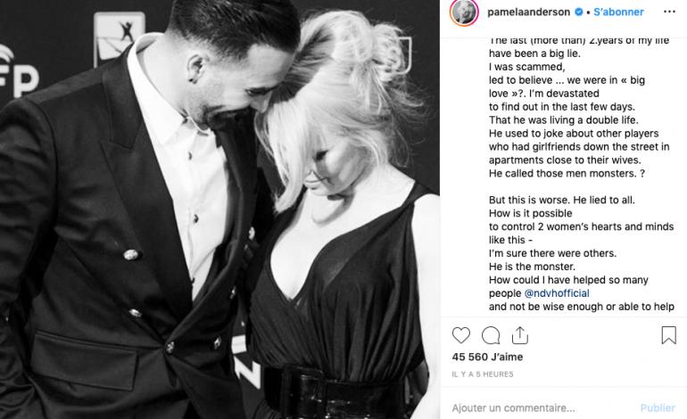 Pamela Anderson traite Adil Rami de monstre pour avoir menti et mené une double vie