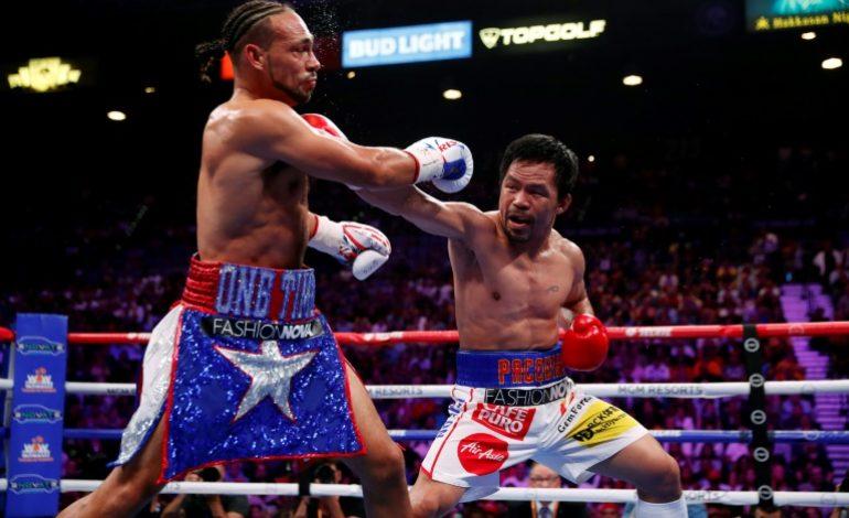 Pacquiao plus fort que Keith Thurman, s'empare de la ceinture WBA des welters