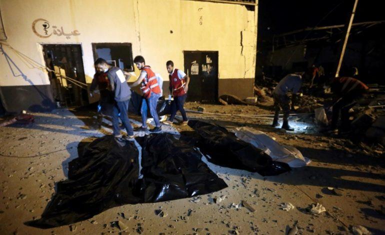 Un raid aérien fait un carnage dans un centre pour migrants en Libye faisant au moins 40 morts