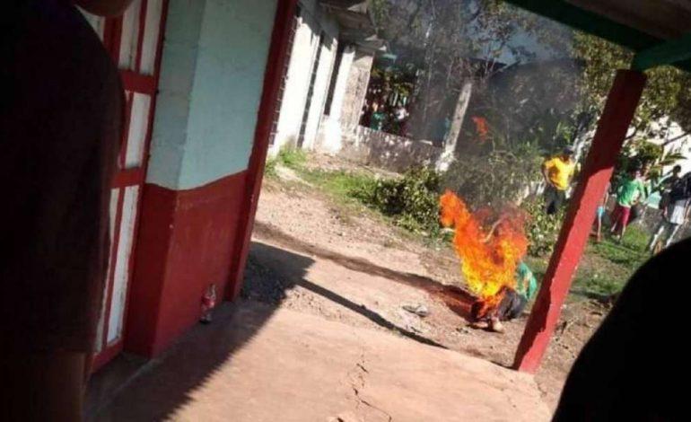 Un violeur et tueur présumé, brûlé vif par les habitants de Cacahoatan