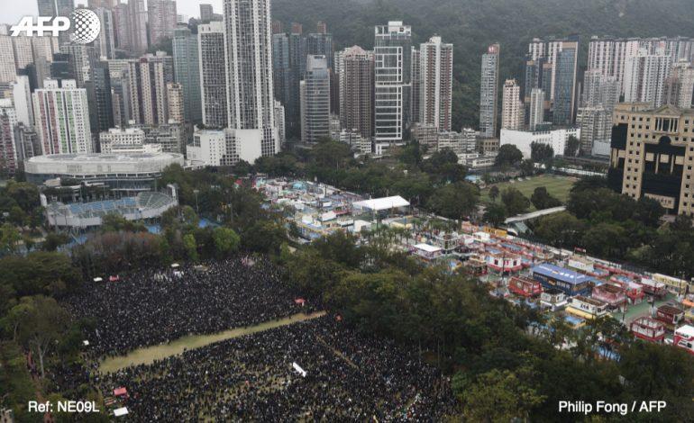Imposante manifestation pro-démocratie à Hong Kong pour le nouvel an