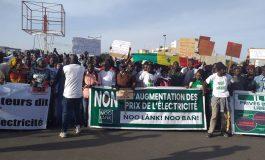 4e mobilisation de hausse du mouvement Ño lank, Ño bañ' contre la hausse du prix de l'électricité