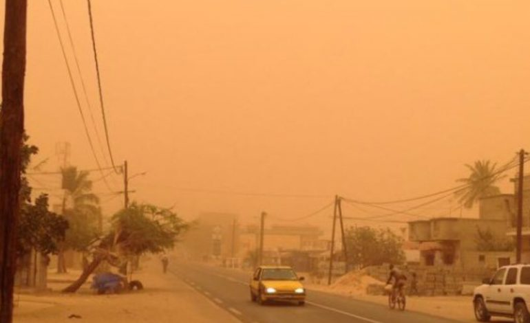 Une couche dense de poussières sur l'ensemble du Sénégal jusqu'à jeudi