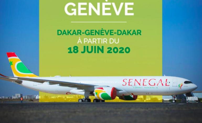 Air Sénégal lance les vols Dakar-Genève-Dakar à partir du 18 juin 2020