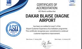 L'Aéroport Dakar Blaise Diagne premier aéroport accrédité ACI-ASQ-Airport Customer Experience Accreditation en Afrique