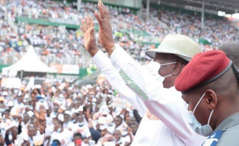 Alassane Dramane Ouattara investi candidat par son parti, le RHDP
