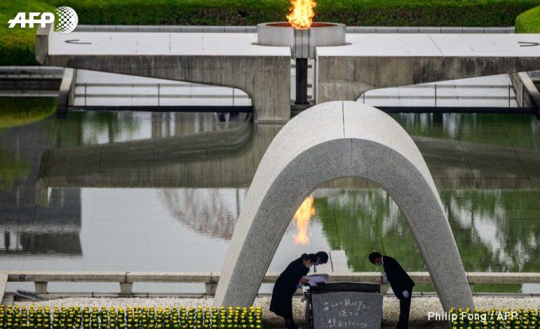 Recueillement au Japon pour les 75 ans de la première bombe atomique à Hiroshima
