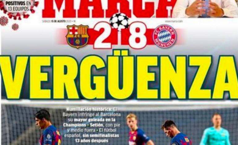 Après son humiliation face au Bayern, les médias catalans se défoulent sur le FC Barcelone