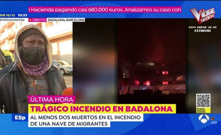 Trois morts dans l'incendie d'un entrepôt à Badalone où vivaient des migrants africains dont des sénégalais