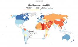 """Fort recul des libertés en 2020 dans le monde: le Sénégal figure dans la catégorie des """"démocraties hybrides et imparfaites"""""""