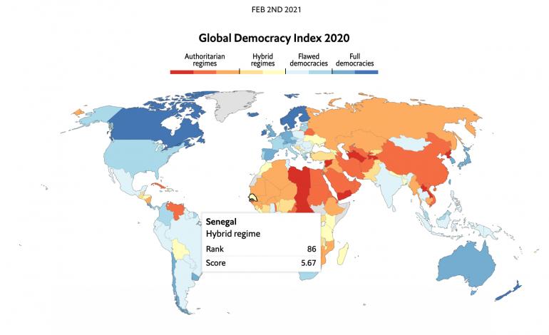 Fort recul des libertés en 2020 dans le monde: le Sénégal figure dans la catégorie des «démocraties hybrides et imparfaites»