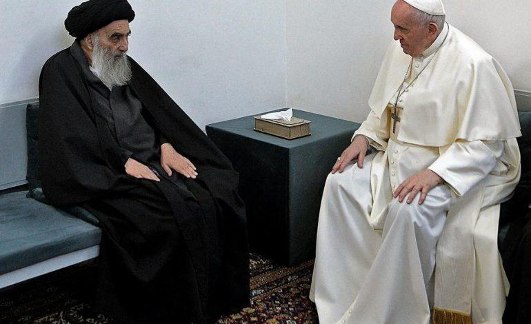 Le pape François et l'ayatollah chiite Ali Sistani s'engagent pour la «paix»