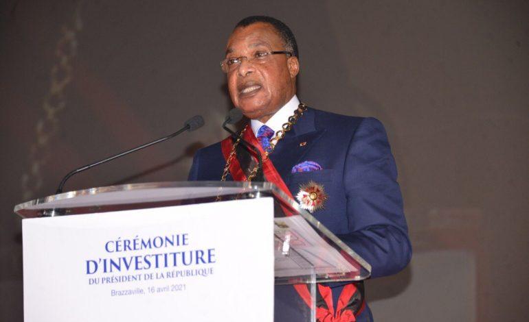 Denis Sassous Nguesso prête serment devant une vingtaine de dirigeants africains dont Macky Sall