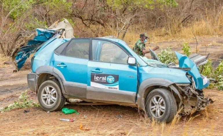 Après un choc frontal avec un camion, 3 journalistes du groupe de presse LERAL décèdent sur le coup