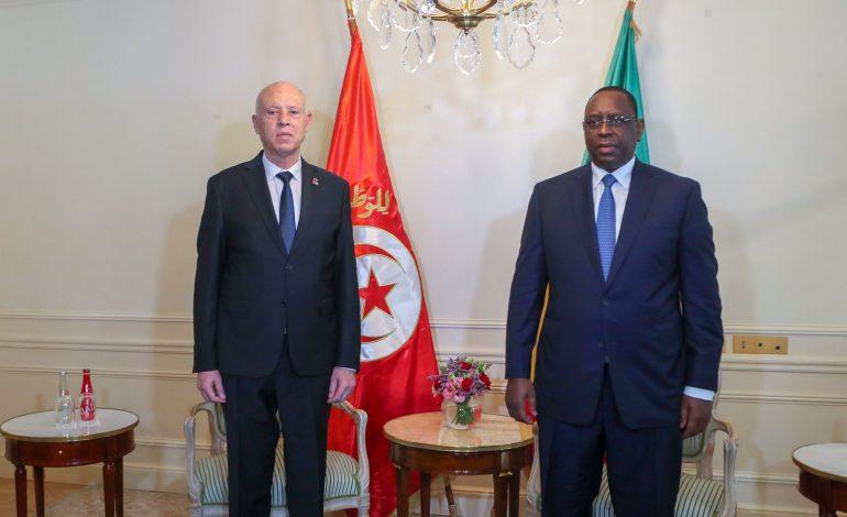 Kaïs Saïed, le président Tunisien s'entretient avec Macky SALL à Paris