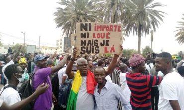 Manifestation du M2D pour la libération des détenus politiques