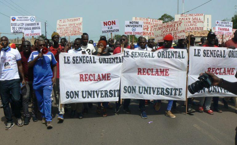 Une marche pour la construction de l'Université du Sénégal-Oriental