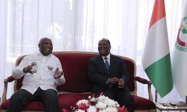 Les anciens rivaux Laurent Gbagbo et Alassane Ouattara, main dans la main