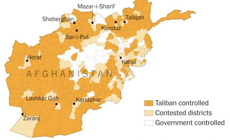 Les talibans contrôlent cinq des 34 capitales régionales de l'Afghanistan