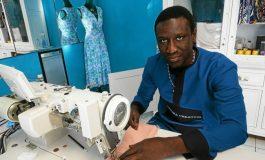 À Brest, broderie, couture et retouches dans l'atelier « Diaspora Création », d'Abdoulaye Beye